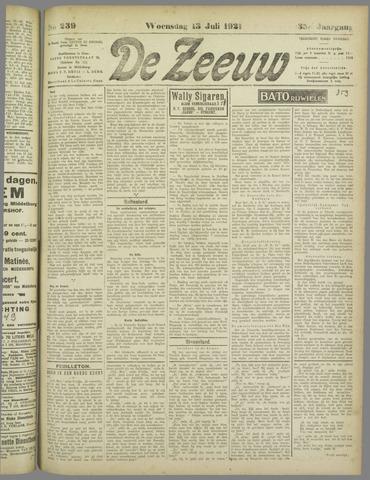 De Zeeuw. Christelijk-historisch nieuwsblad voor Zeeland 1921-07-13
