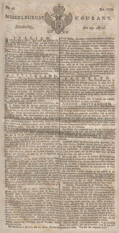Middelburgsche Courant 1779-04-29