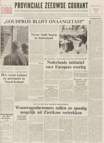 Provinciale Zeeuwse Courant 1971-08-17