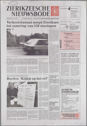 Zierikzeesche Nieuwsbode 1995-07-27