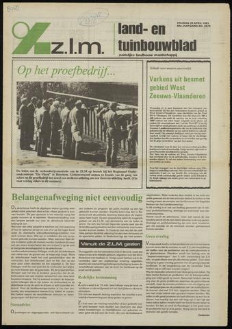 Zeeuwsch landbouwblad ... ZLM land- en tuinbouwblad 1981-04-24