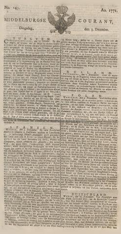 Middelburgsche Courant 1771-12-03