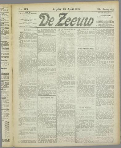 De Zeeuw. Christelijk-historisch nieuwsblad voor Zeeland 1919-04-25