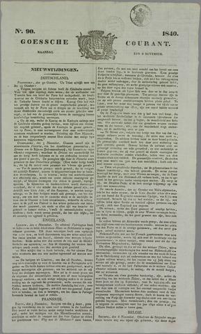 Goessche Courant 1840-11-09