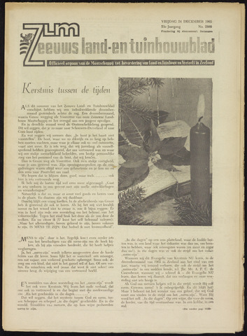 Zeeuwsch landbouwblad ... ZLM land- en tuinbouwblad 1965-12-24