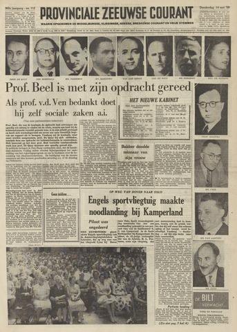 Provinciale Zeeuwse Courant 1959-05-14