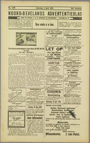 Noord-Bevelands Nieuws- en advertentieblad 1932-04-09