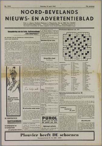 Noord-Bevelands Nieuws- en advertentieblad 1967-04-15
