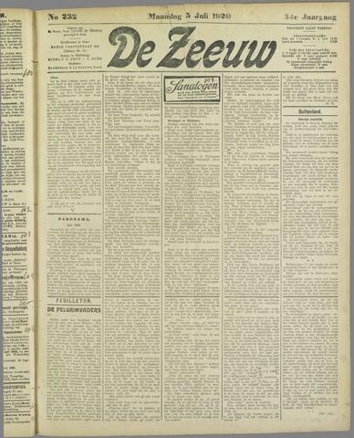 De Zeeuw. Christelijk-historisch nieuwsblad voor Zeeland 1920-07-05