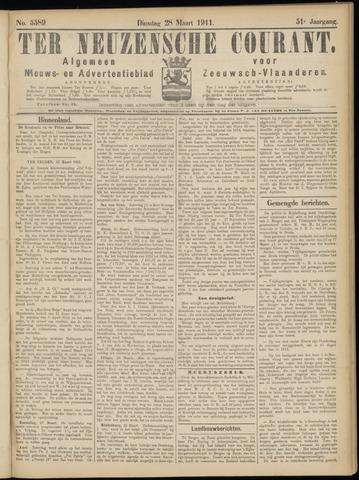 Ter Neuzensche Courant. Algemeen Nieuws- en Advertentieblad voor Zeeuwsch-Vlaanderen / Neuzensche Courant ... (idem) / (Algemeen) nieuws en advertentieblad voor Zeeuwsch-Vlaanderen 1911-03-28