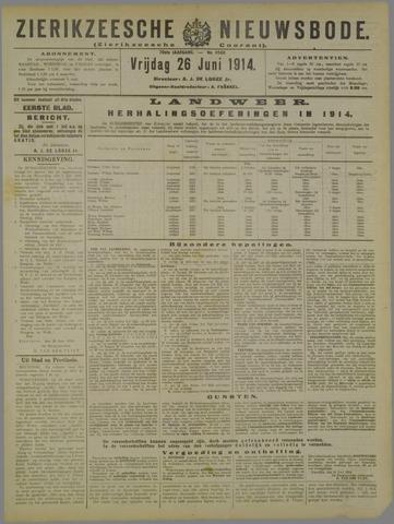 Zierikzeesche Nieuwsbode 1914-06-26