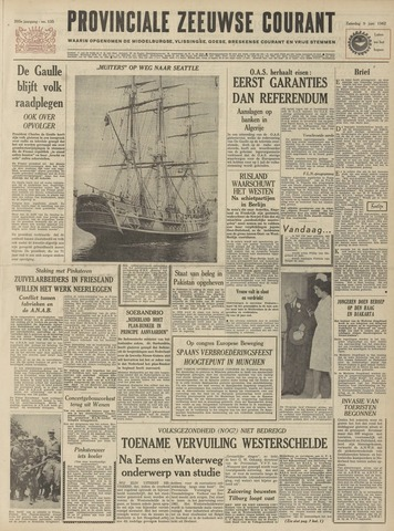 Provinciale Zeeuwse Courant 1962-06-09