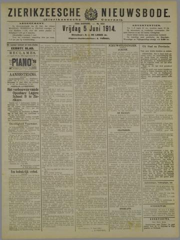 Zierikzeesche Nieuwsbode 1914-06-05