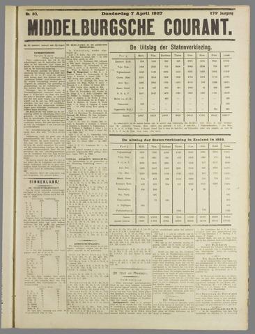 Middelburgsche Courant 1927-04-07
