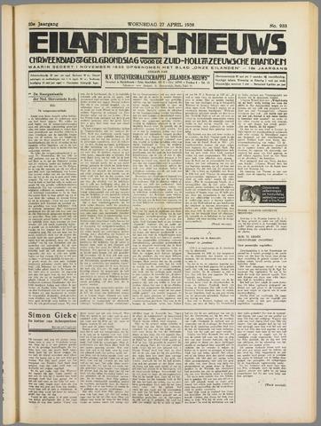 Eilanden-nieuws. Christelijk streekblad op gereformeerde grondslag 1938-04-27