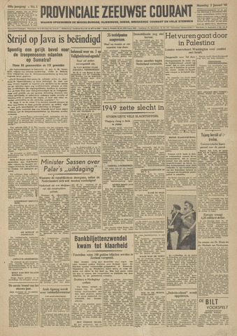 Provinciale Zeeuwse Courant 1949-01-03