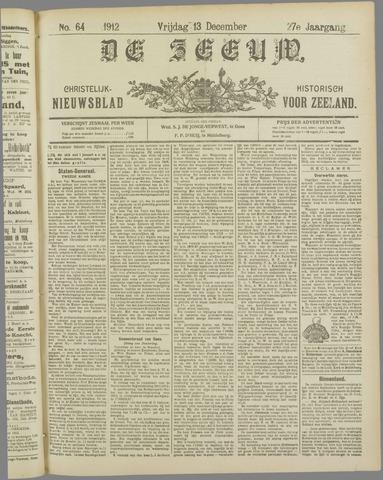 De Zeeuw. Christelijk-historisch nieuwsblad voor Zeeland 1912-12-13