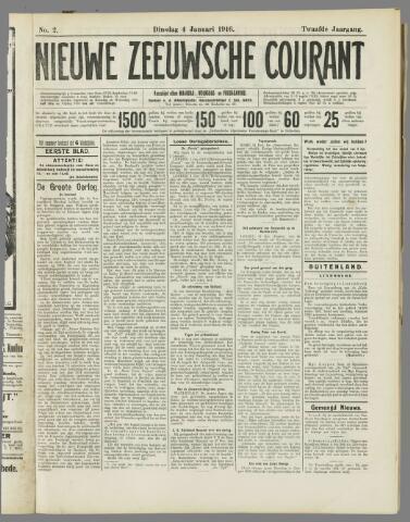 Nieuwe Zeeuwsche Courant 1916-01-04
