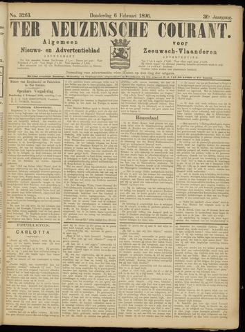 Ter Neuzensche Courant. Algemeen Nieuws- en Advertentieblad voor Zeeuwsch-Vlaanderen / Neuzensche Courant ... (idem) / (Algemeen) nieuws en advertentieblad voor Zeeuwsch-Vlaanderen 1896-02-06