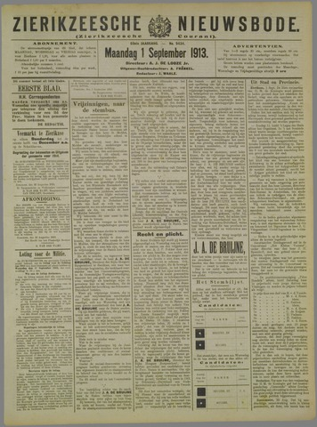 Zierikzeesche Nieuwsbode 1913-09-01