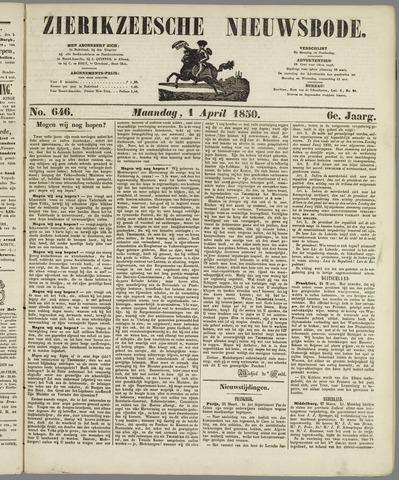 Zierikzeesche Nieuwsbode 1850-04-01