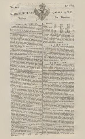 Middelburgsche Courant 1761-12-01