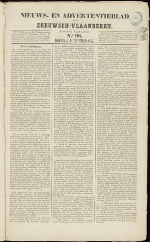 Ter Neuzensche Courant. Algemeen Nieuws- en Advertentieblad voor Zeeuwsch-Vlaanderen / Neuzensche Courant ... (idem) / (Algemeen) nieuws en advertentieblad voor Zeeuwsch-Vlaanderen 1855-11-14