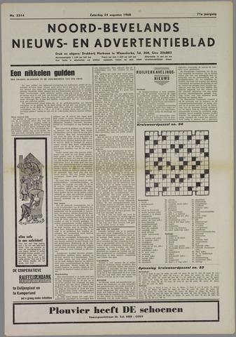 Noord-Bevelands Nieuws- en advertentieblad 1968-08-24