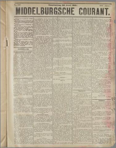 Middelburgsche Courant 1921-06-30