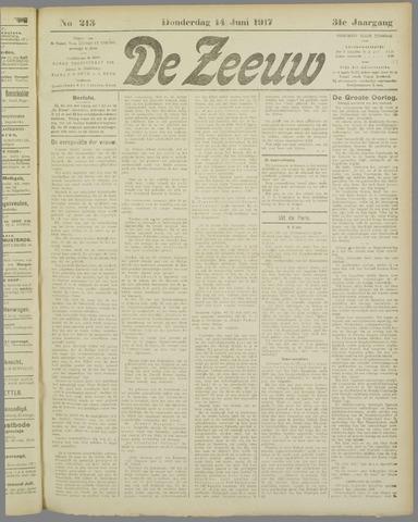 De Zeeuw. Christelijk-historisch nieuwsblad voor Zeeland 1917-06-14