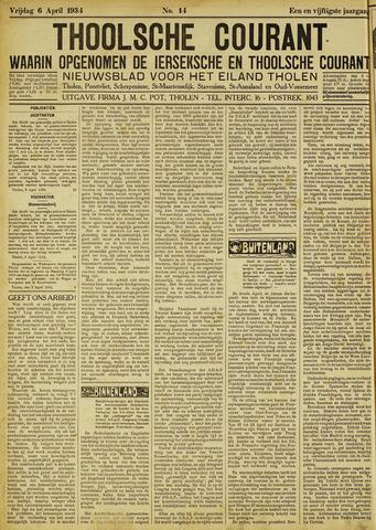 Ierseksche en Thoolsche Courant 1934-04-06