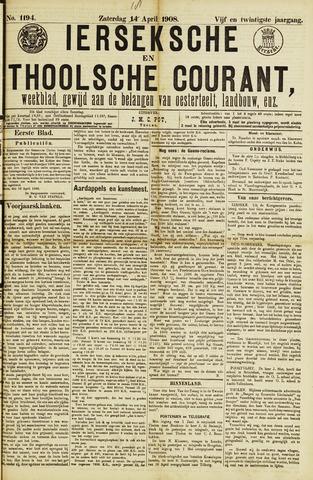 Ierseksche en Thoolsche Courant 1908-04-18