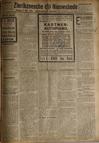 Zierikzeesche Nieuwsbode 1921-12-02