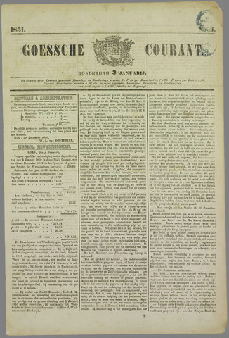 Goessche Courant 1851