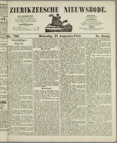 Zierikzeesche Nieuwsbode 1851-08-25