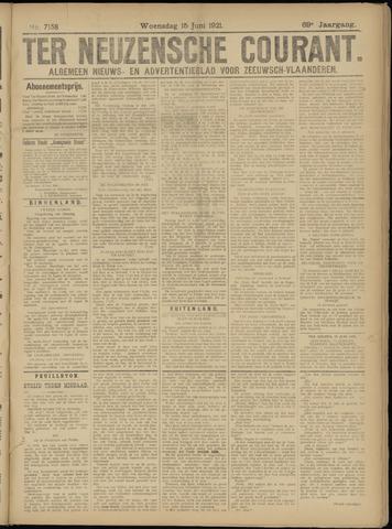 Ter Neuzensche Courant. Algemeen Nieuws- en Advertentieblad voor Zeeuwsch-Vlaanderen / Neuzensche Courant ... (idem) / (Algemeen) nieuws en advertentieblad voor Zeeuwsch-Vlaanderen 1921-06-15