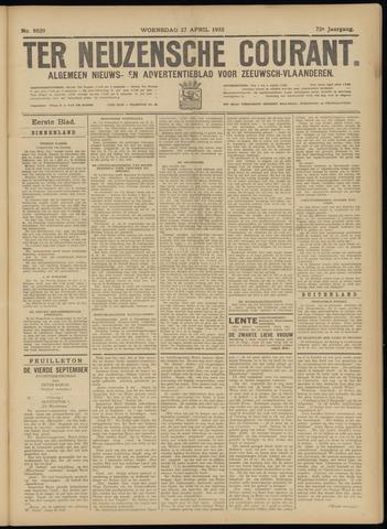 Ter Neuzensche Courant. Algemeen Nieuws- en Advertentieblad voor Zeeuwsch-Vlaanderen / Neuzensche Courant ... (idem) / (Algemeen) nieuws en advertentieblad voor Zeeuwsch-Vlaanderen 1932-04-27