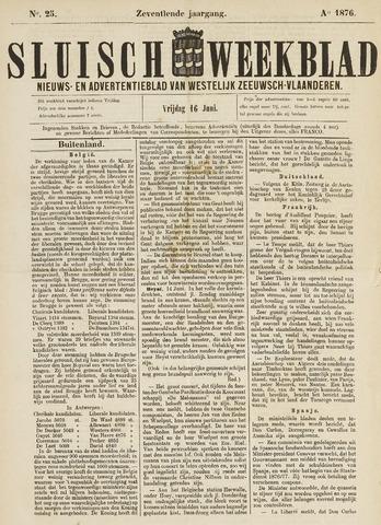 Sluisch Weekblad. Nieuws- en advertentieblad voor Westelijk Zeeuwsch-Vlaanderen 1876-06-16