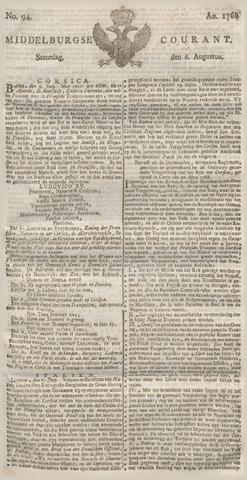Middelburgsche Courant 1768-08-06