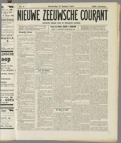Nieuwe Zeeuwsche Courant 1909-01-14