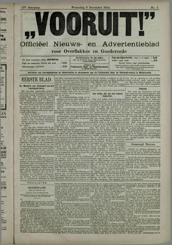 """""""Vooruit!""""Officieel Nieuws- en Advertentieblad voor Overflakkee en Goedereede 1914-12-09"""
