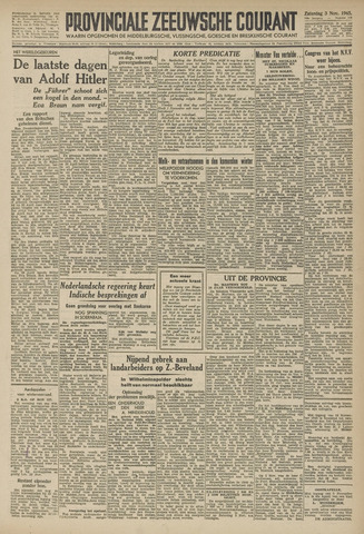 Provinciale Zeeuwse Courant 1945-11-03