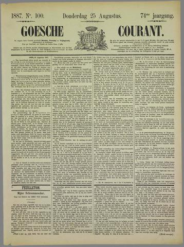 Goessche Courant 1887-08-25