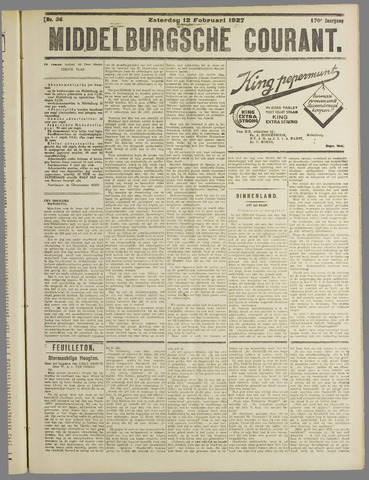 Middelburgsche Courant 1927-02-12