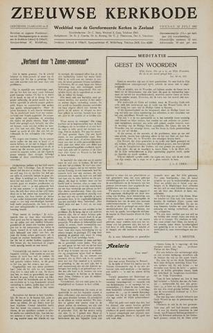 Zeeuwsche kerkbode, weekblad gewijd aan de belangen der gereformeerde kerken/ Zeeuwsch kerkblad 1957-07-12