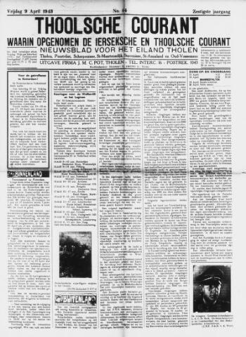 Ierseksche en Thoolsche Courant 1943-04-09
