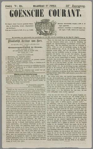 Goessche Courant 1864-06-27