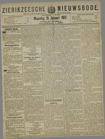 Zierikzeesche Nieuwsbode 1917-01-15