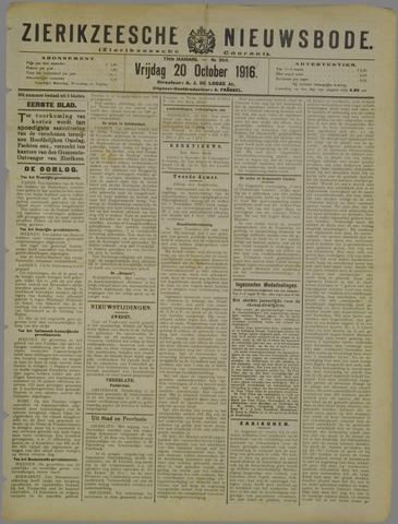 Zierikzeesche Nieuwsbode 1916-10-20