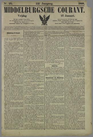 Middelburgsche Courant 1888-01-27